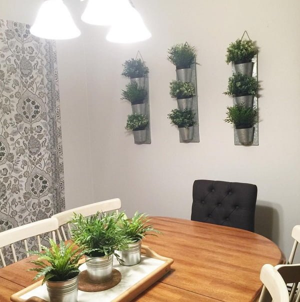 Herb garden dining room wall decor #homedecor