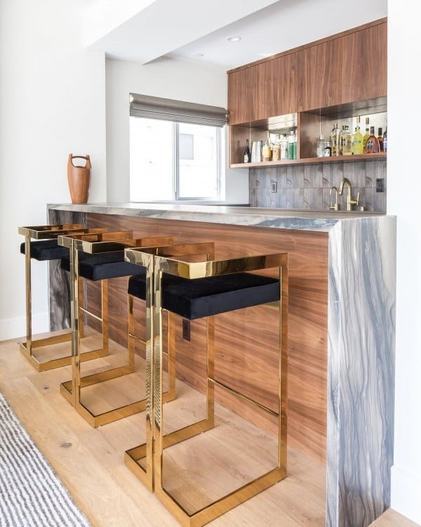 Kitchen Home Bar Idea #homedecor