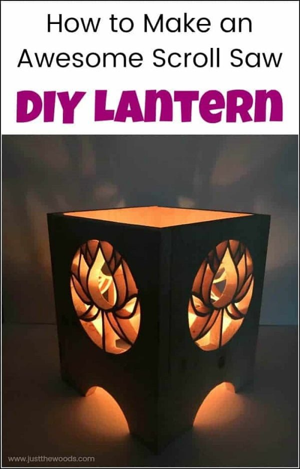 How to make #DIY scroll saw lanterns #homedecor