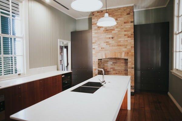 Laminate kitchen floor tile idea
