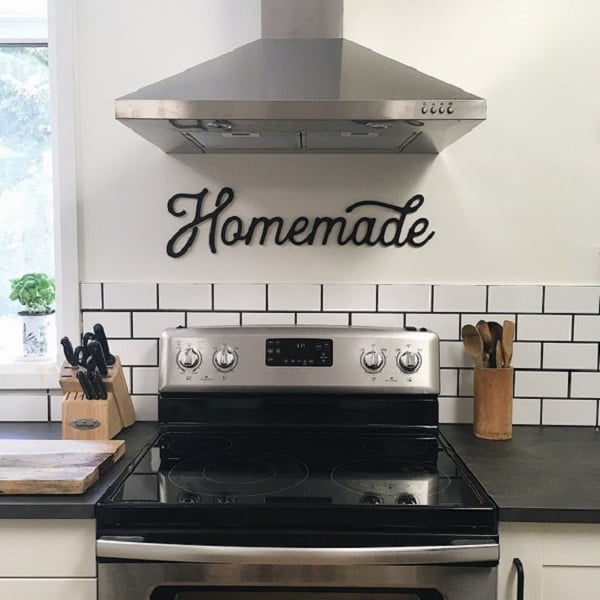 Laser cut sign kitchen wall art #homedecor