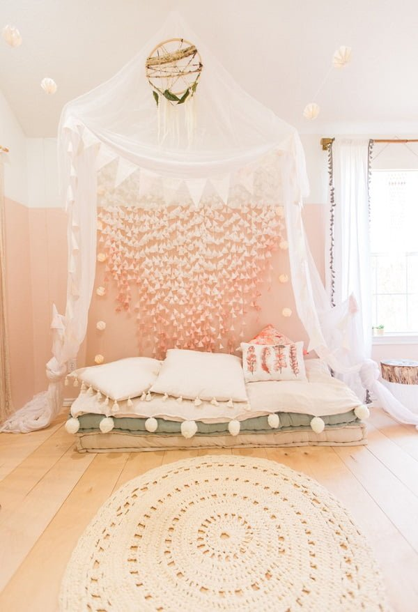 Macrame Canopy Boho Bedroom