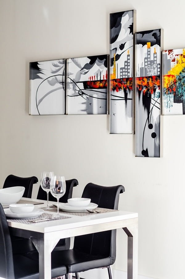 Modern modular wall artwork dining room wall decor #homedecor