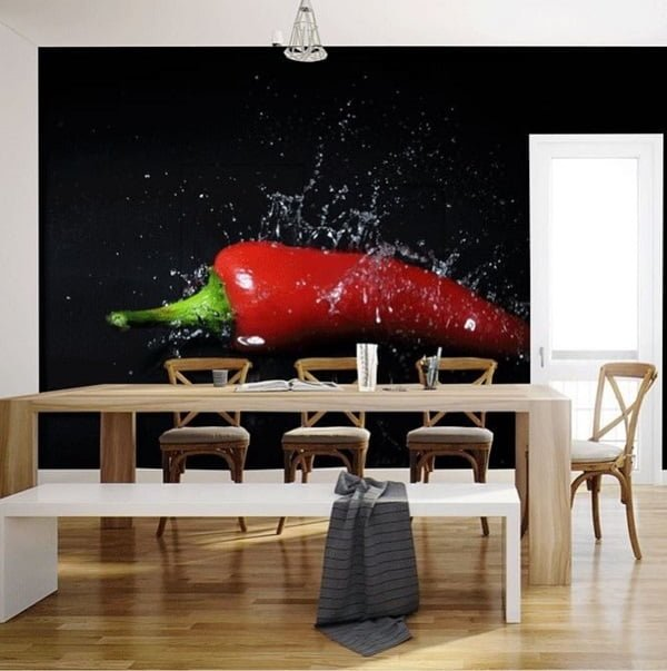 Mural dining room wall decor #homedecor