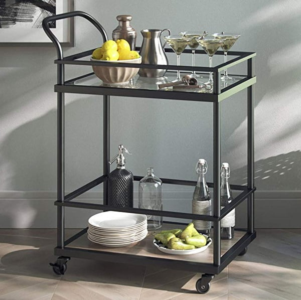 Nathan James utility tea cart