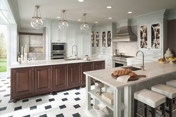 Natural wood with shaker cabinets