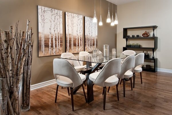 Nature feature dining room wall decor #homedecor