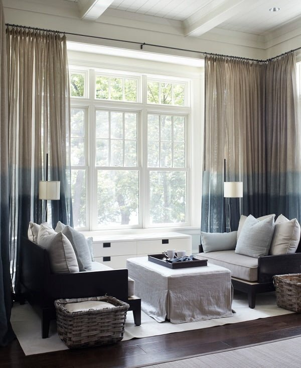Ombre living room curtains