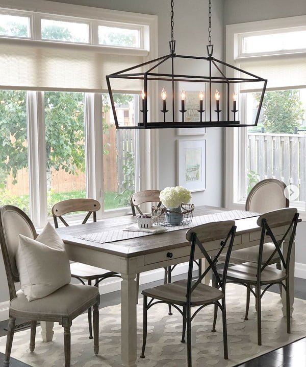 Oversized candle chandelier farmhouse lighting idea #homedecor