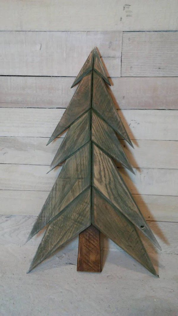 Reclaimed wood pallet  tree