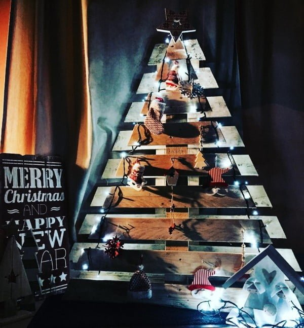 Double pallet #Christmas tree #homedecor