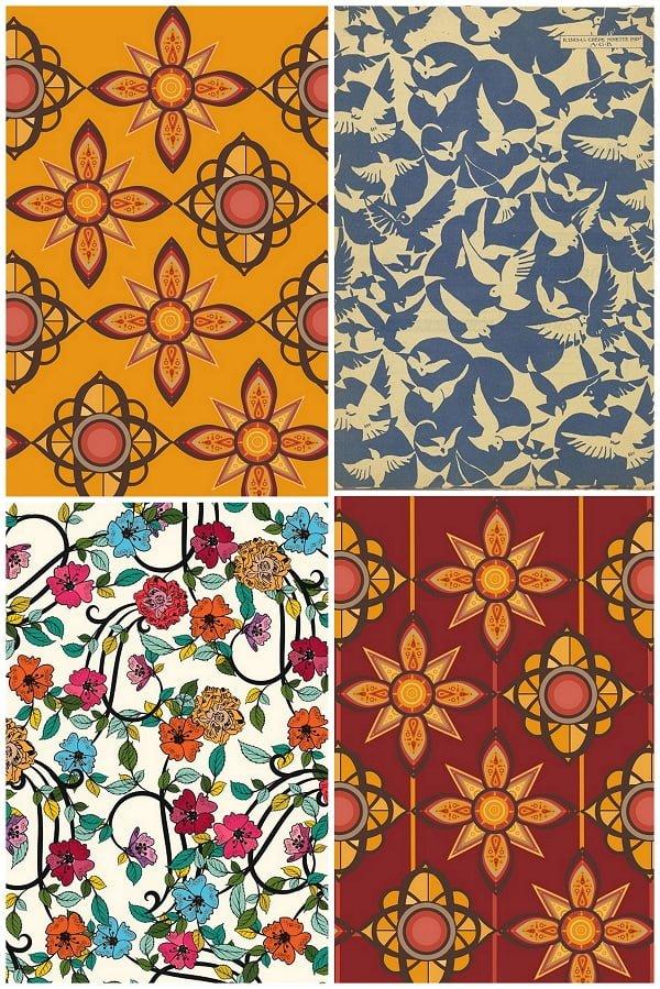 Vintage pattern posters