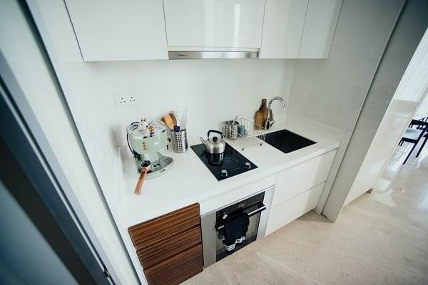 Porcelain kitchen floor tile idea