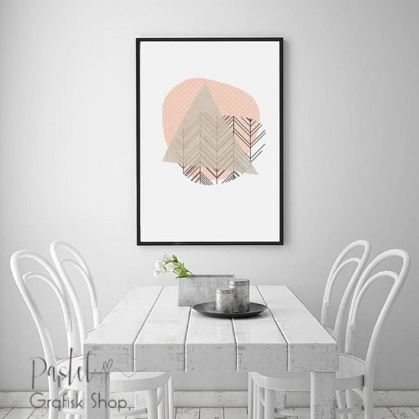 Print art dining room wall decor #homedecor