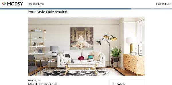 Modsy Style Quiz