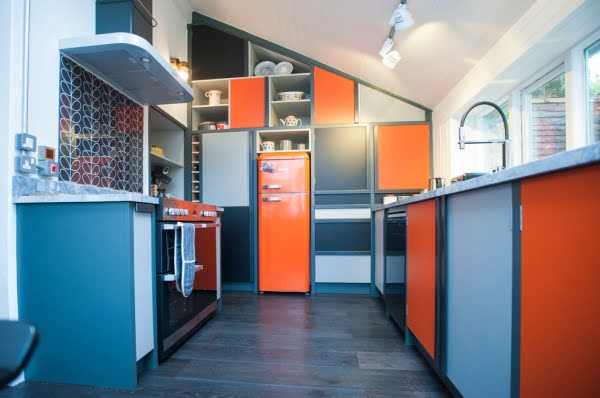 Modern Retro Kitchen #kitchendesign