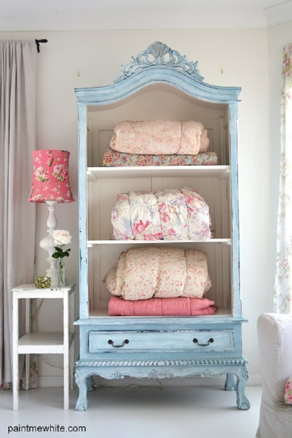 Shabby Chic French Armoire Makeover