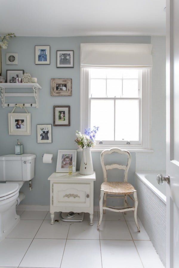 White Shabby Chic Bathroom Furniture