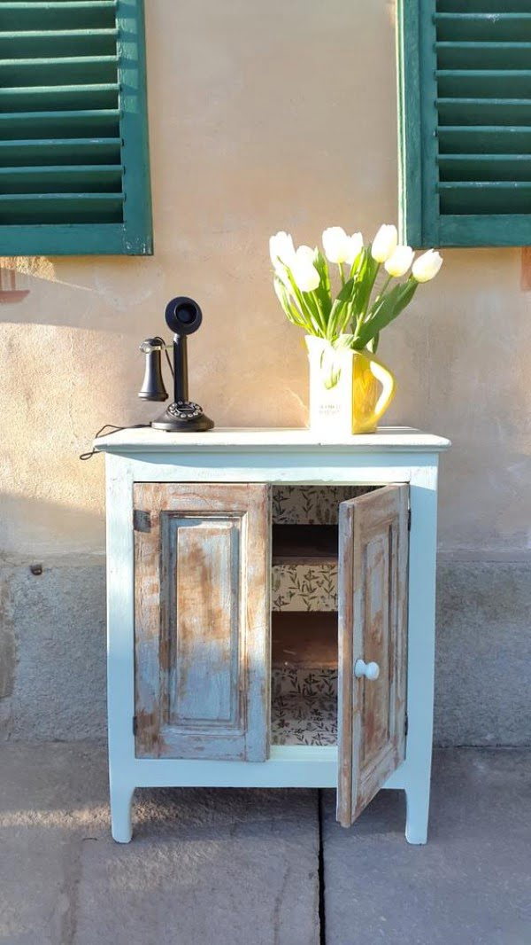 Little Vintage Shabby Chic Cupboard