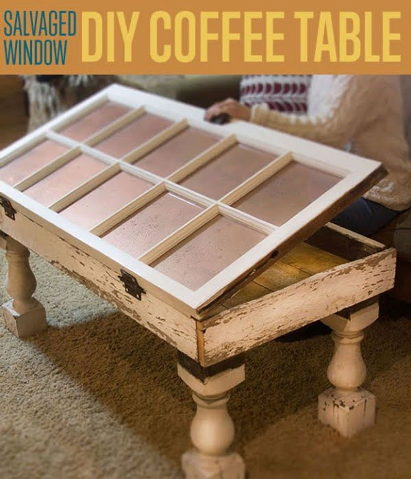 Shabby Chic Salvaged Window Coffee Table