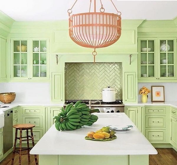20 Best Dark And Light Green Kitchen Cabinet Ideas For 2019