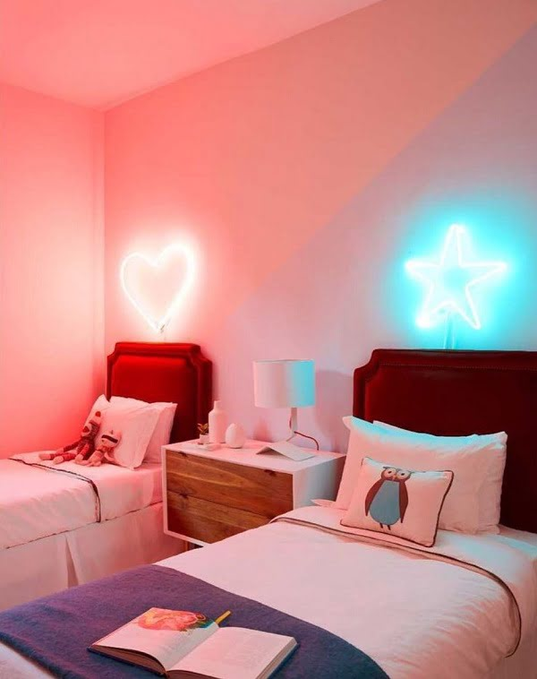 Teen bedroom neon sign idea