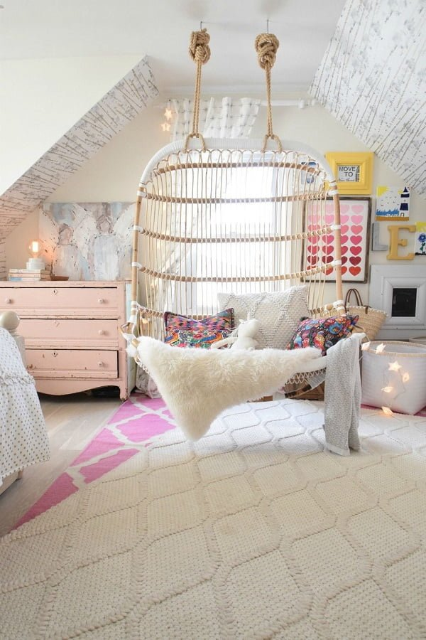 Teen bedroom swing chair