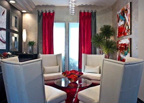 Two tone living room curtains