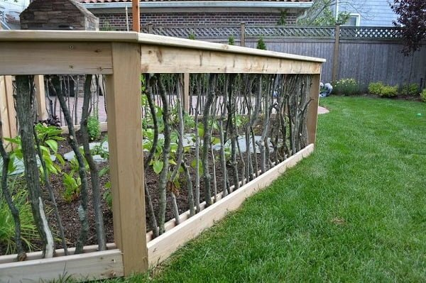 Unique Vegetable Garden Fence from Branches #garden