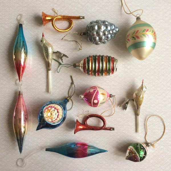 Mini Vintage Christmas Ornaments