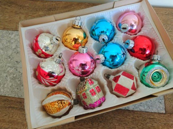Vintage Glass Christmas Bauble Decorations