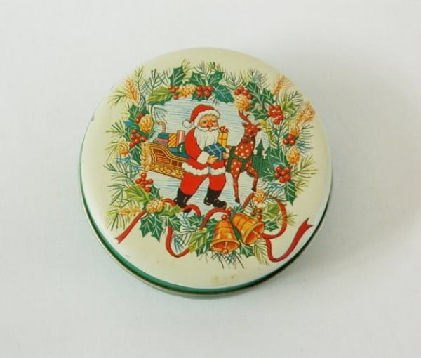 Vintage Tin Box Christmas Decorations
