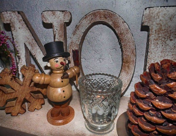 Wooden Vintage Christmas Ornaments