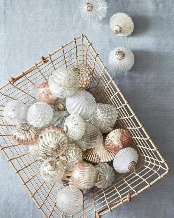 Vintage Shabby Chic Christmas Ornaments