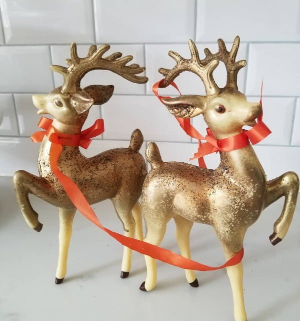 Vintage Reindeer Christmas Decorations