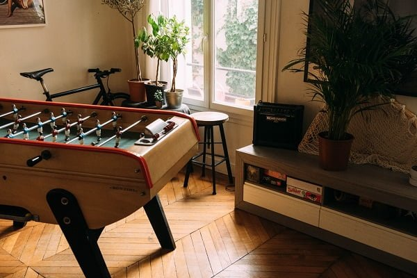 Vintage Foosball Table Game Room Idea #homedecor