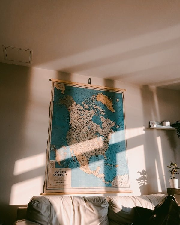 Vintage  map wall decor