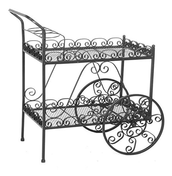 Vintage metal tea cart