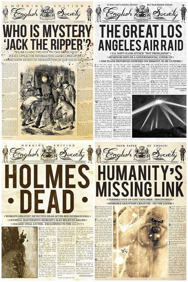 Vintage newspaper posters