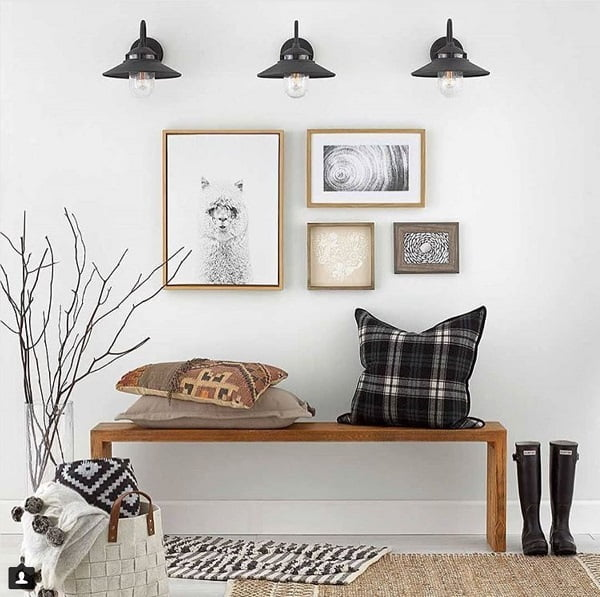 Wall sconces farmhouse lighting idea #homedecor