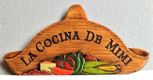 Wood carved plaque kitchen wall art idea
