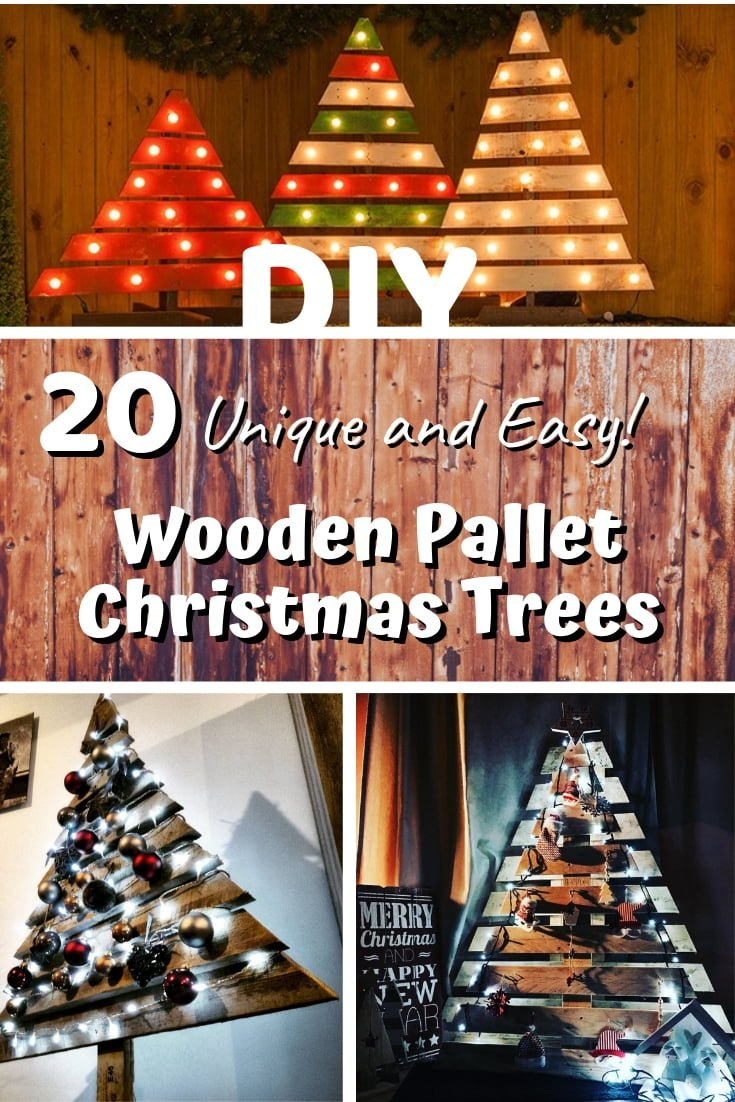 One of the most unique ways to decorate your home for Christmas is by making a wooden pallet Christmas Tree. Here are 20 easy ways to do it! #homedecor #holidays #woodworking