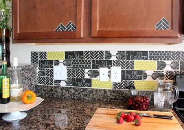 Decal Tile  Backsplash