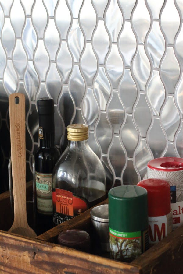 Stainless Steel Mosaic Tile  Backsplash