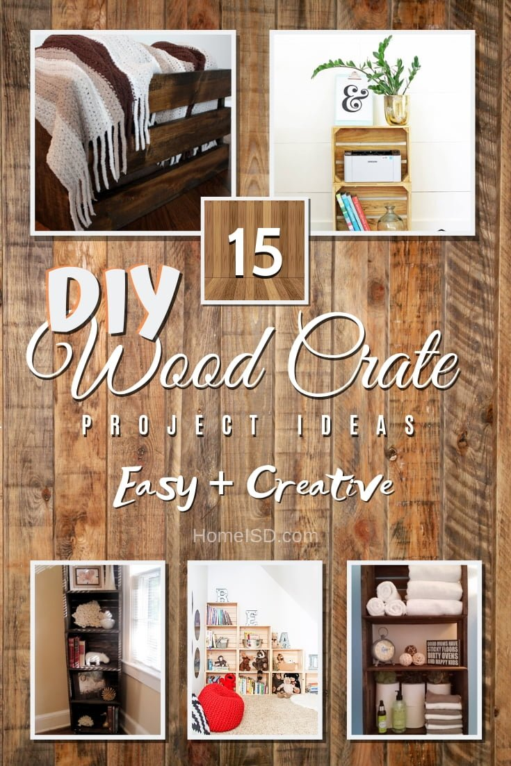 Wooden crate projects are a whole challenge. Here are 15 different DIY project ideas that you can make from crates. Great list! #homedecor #DIY