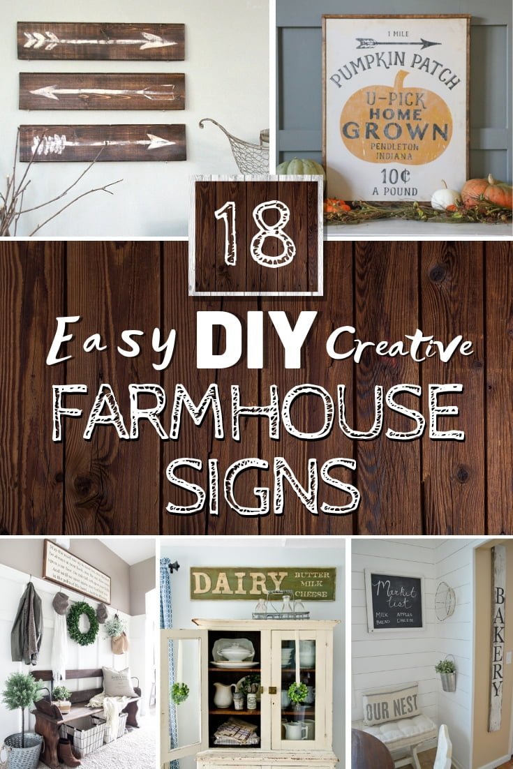Make a DIY farmhouse sign for charming rustic home decor. These are 18 easy and wonderful ideas with tutorials #homedecor #farmhouse #DIY
