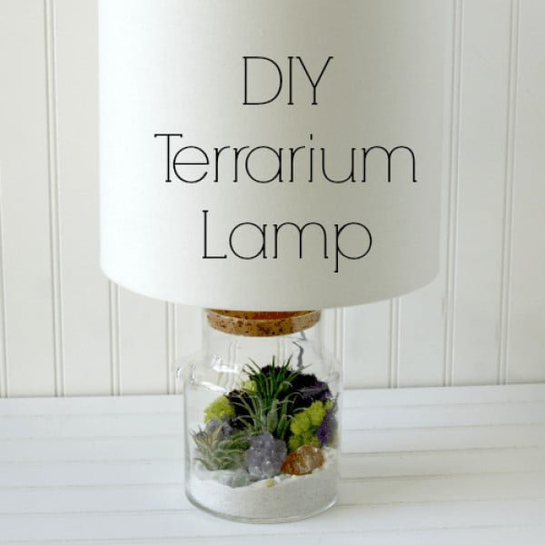 #DIY Terrarium Lamp #homedecor