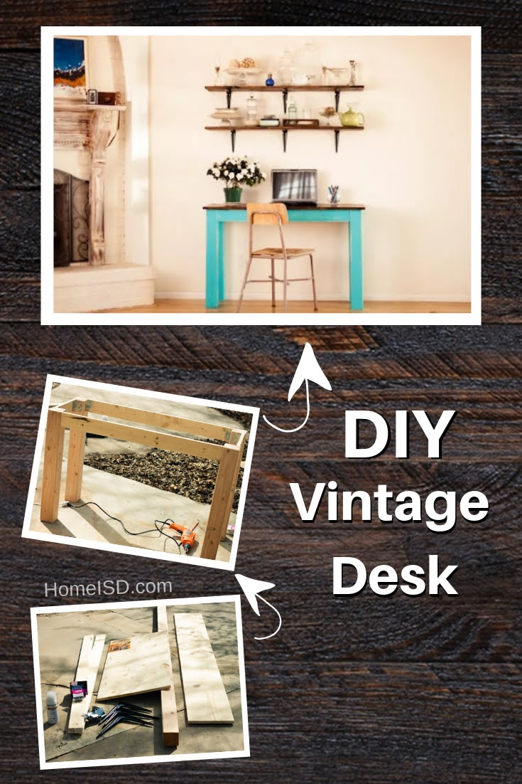 DIY Vintage Desk - great project idea! Check out other DIY desk tutorials too! #DIY #homedecor #furniture