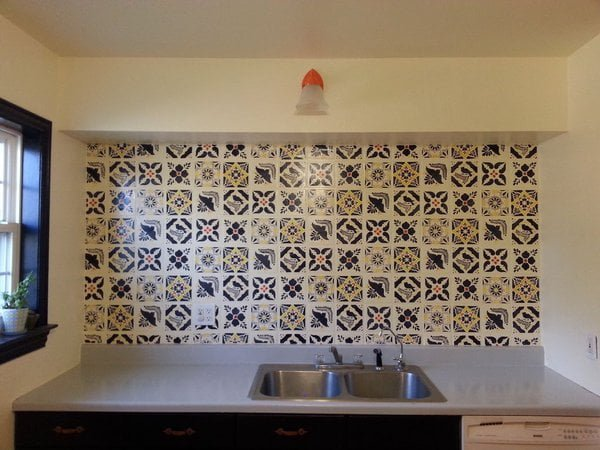Faux Talavera  Backsplash