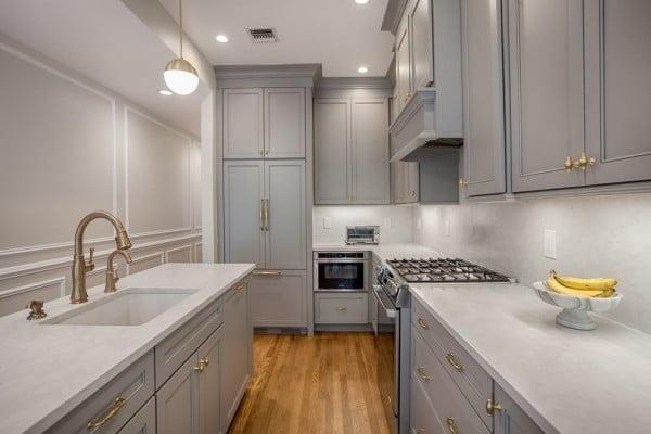 Classic Lunar Grey Kitchen Cabinets #kitchendesign